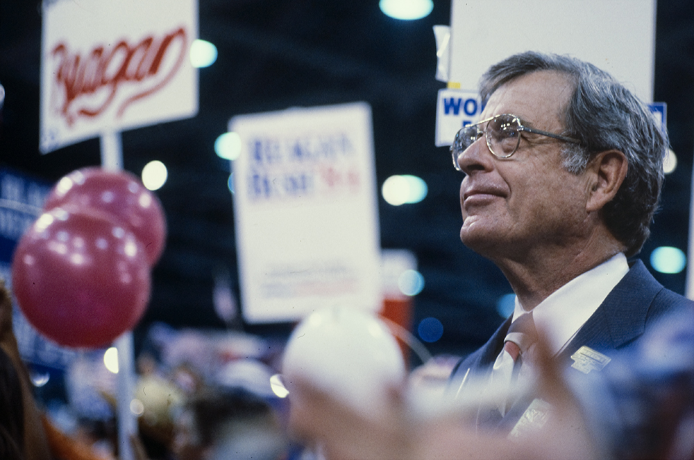 Alabama Senator Jeremiah Denton at the 1984 Republican National Convention in Dallas, TX. Photo by Adrian Hoff